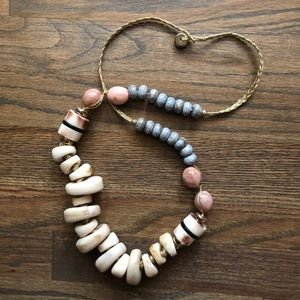 Anthropologie chunky beaded necklace